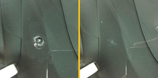 Ремонт мелких трещин автомобильных стек